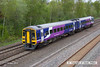 130511-016     Northern Rail class 158 unit no. 158845 approaches Langley mill with 1Y17, the 09.05 Leeds to Nottingham.