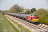 130502-029     DB Schenker 'super tug', class 60 no. 60020 passing Barrow upon Trent, powering train 6E54, 1040 Kingsbury Oil Sidings to Humber Oil Refinery, empty bogie tanks.