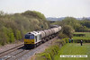 130502-017     DB Schenker class 60 no. 60099 is captured passing Barrow upon Trent, powering 6M57, 0752 Lindsey Oil Refinery to Kingsbury Oil Sidings, loaded bogie tanks, fuel-oil.