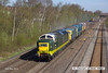 130502-013     Deltic, class 55 no. 55009 Alycidon is captured passing Langley Mill, hauling 33108, classmate 55019 & 37251. The convoy was heading to the Dean Forest Railway as 0Z74 1000 Butterley M.R.C. to Lydney Junction where 31466 was attached. The following day the convoy completed it's journey to the Swanage Railway for the forthcoming diesel gala.