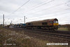 131123-006     DB Shenker class 66/0 no 66044 and classmate no 66200 Railway Heritage Committee (nearest at the rear), top & tail with RHTT 3J41, the 09.22 Peterborough L.I.P. to Peterborough L.I.P. They are seen leaving the East Coast Main Line at Newark, heading to Lincoln and  'bracing' Skegness.