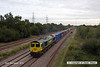 130926-003     Freightliner class 66/5 no 66588 is captured passing North Stafford Junction, Willington, powering Intermodal 4O54, the 06.13 Leeds F.L.T. to Southampton M.C.T.