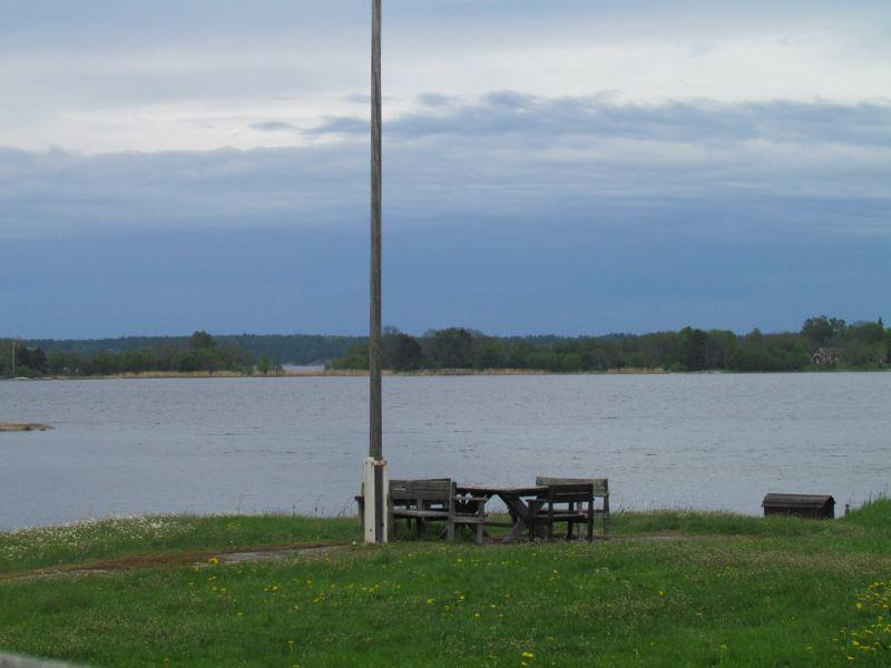 Utsikt mot Yxlan och kommande oväder