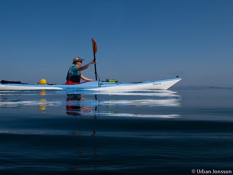 Lisa invigningspaddlade Norrvikens nya Ocean 17:6