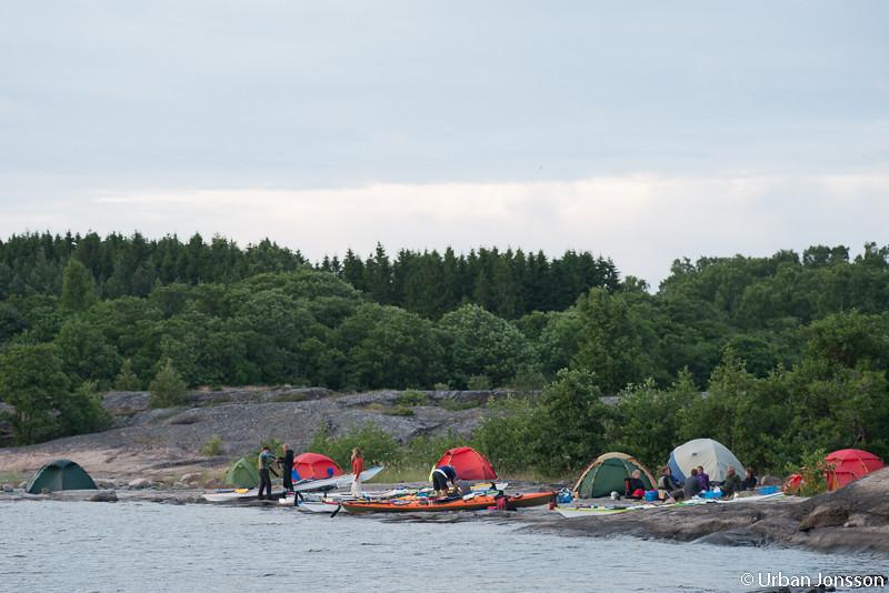 Lägerplatsen norr om Brändö.