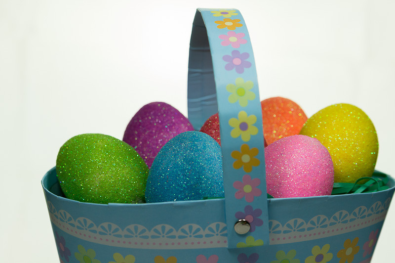 I used glitter to create these eggs. It was surprisingly easy.