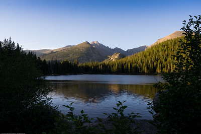 Bear Lake early in the morning - Rocky Mountain National Park