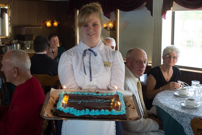 17.Katie with anniversary cake 6/18/13