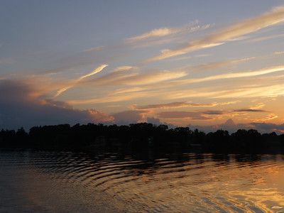4.	Sunset in 1000 Islands aboard The Canadian Empress 6/13/13