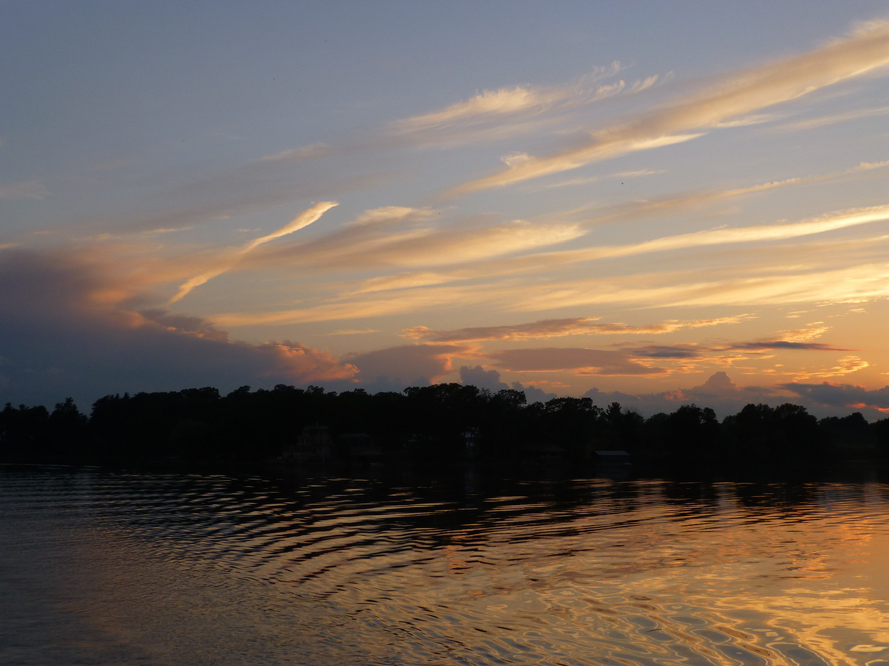 4.Sunset in 1000 Islands aboard The Canadian Empress 6/13/13