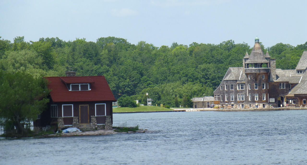 5.Boldt Castle Yacht House, with another cabin on a tiny island 6/14/13