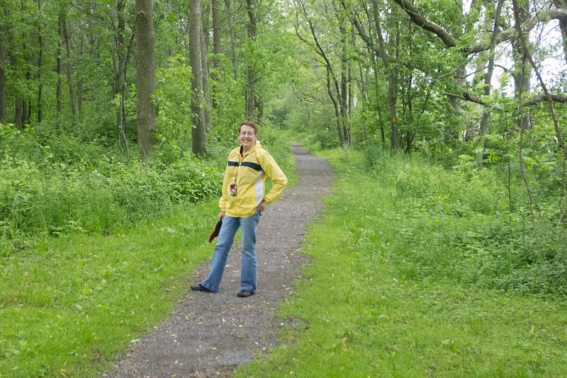 3.Lois at Rideau Canal Trail, Kingston 6/13/13