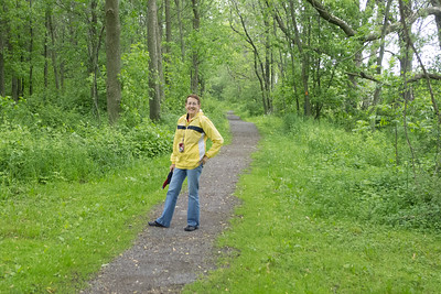 3.	Lois at Rideau Canal Trail, Kingston 6/13/13