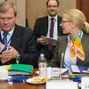 The EEA Council 21 May 2013. From left: Ambassador Kurt Jaeger, Mission of Liechtenstein to the EU;  Aurelia Frick, Minister of Foreign Affairs, Liechtenstein  (Photo: EFTA)