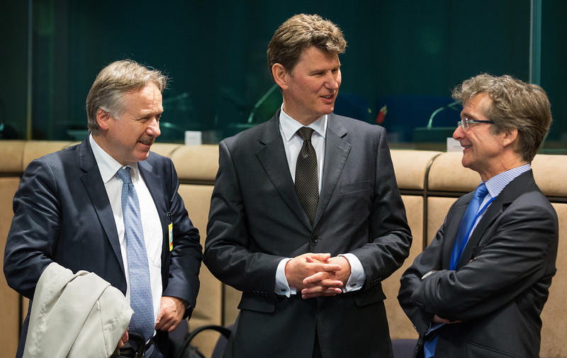 The EEA Council 21 May 2013. From left: Deputy Secretary-General Helge Skaara, EFTA Secretariat; and Ambassador Thorir Ibsen and Deputy Head of Mission, Nikulás Hannigan, Icelandic Mission to the EU (Photo: EFTA)