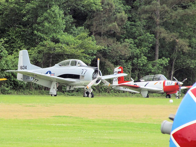 T-28D Trojan and T-34B Mentor