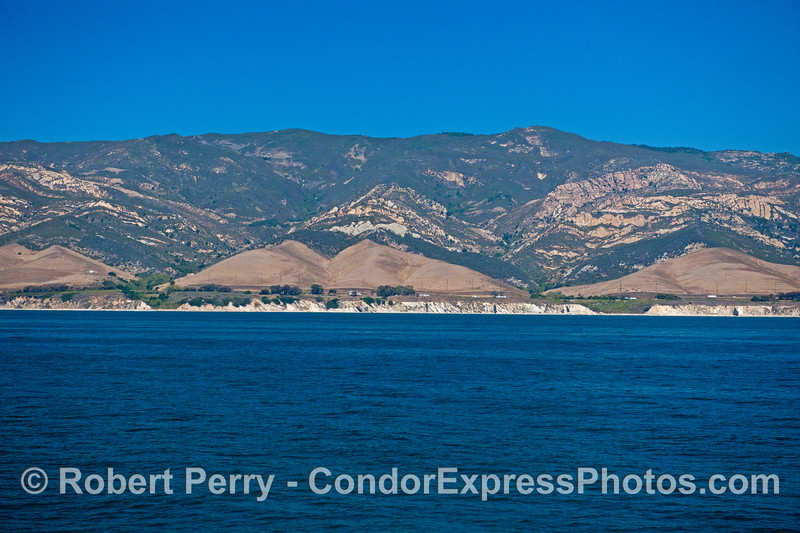Coastal scenery - far west Santa Barbara coast.