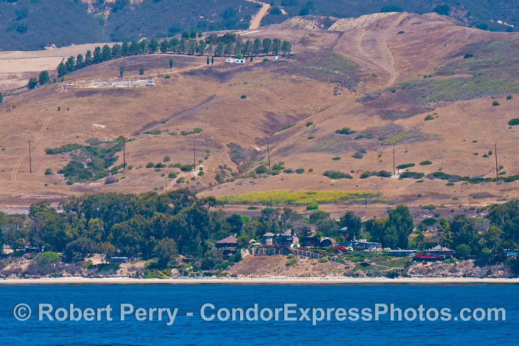 Coastal scenery - far west Santa Barbara coast.