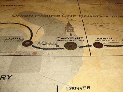 UP stations across Wyoming, on the floor mural.