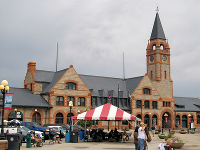 The Cheyenne Union Pacific station. There was a happening when we were there. A band and all, even with the rain.