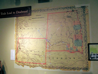 The All Trails Lead to Deadwood stage coach map.