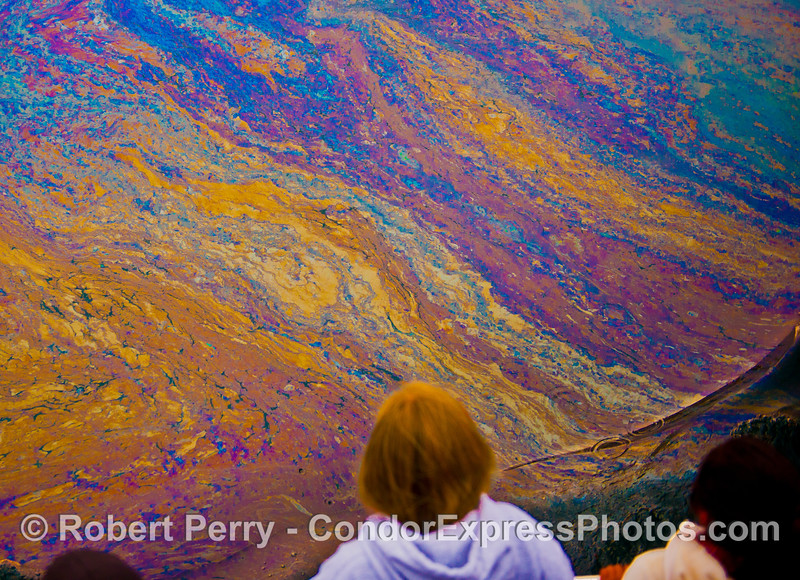 A vast canvas of abstract color patterns as seen using high contrast photography.