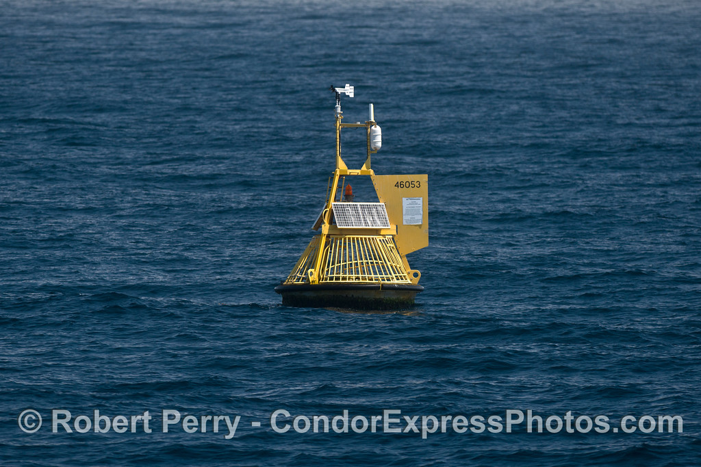 This is the NOAA weather and oceanographic buoy 46053 also known as the East Channel buoy.