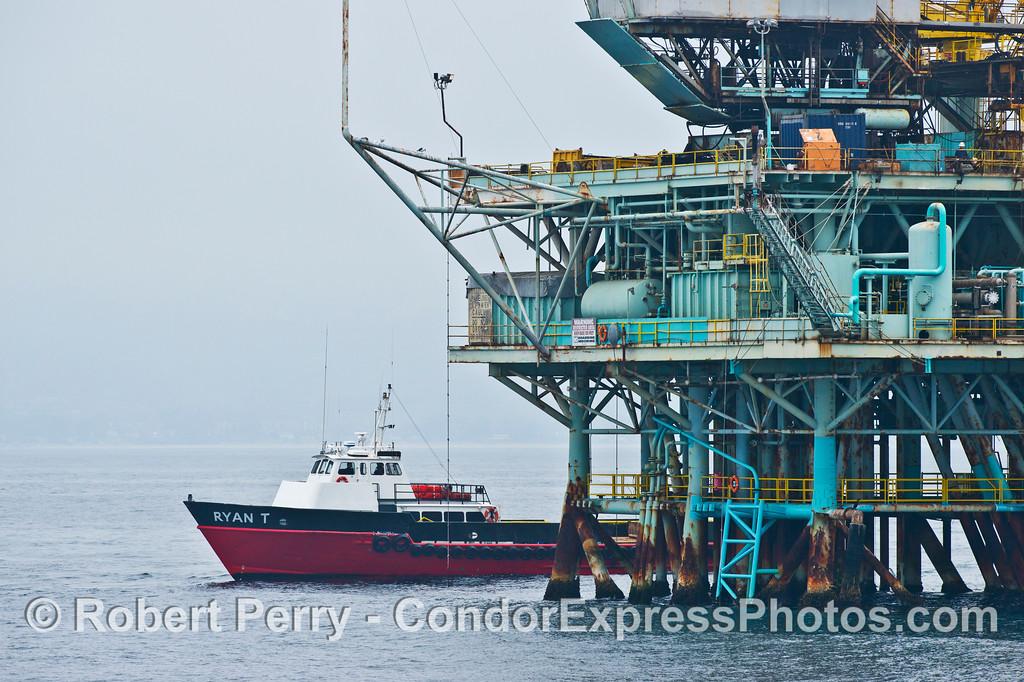 vessel crew boat Ryan T at Platform A 2013 08-13 SB Channel-002