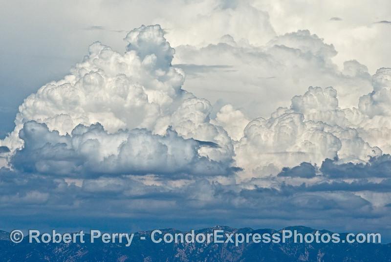 Clouds over the Santa Ynez range - close up.