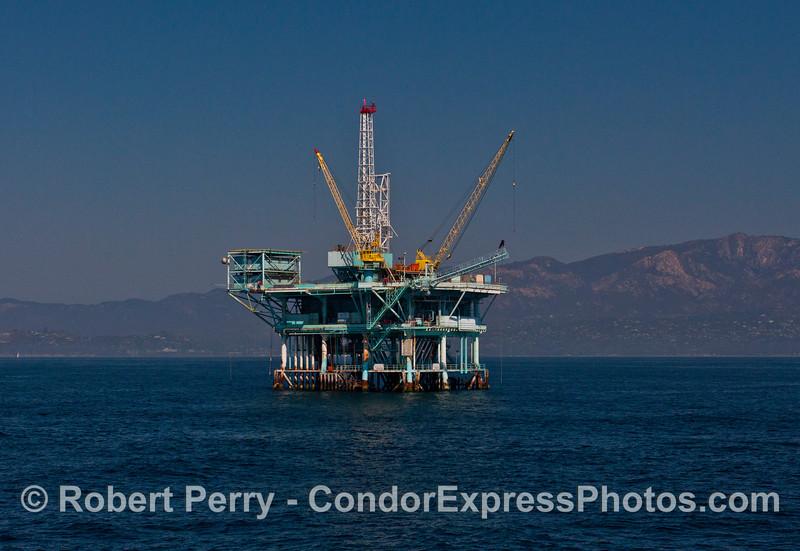 "Offshore oil platform ""C"" off the coast of Summerland."