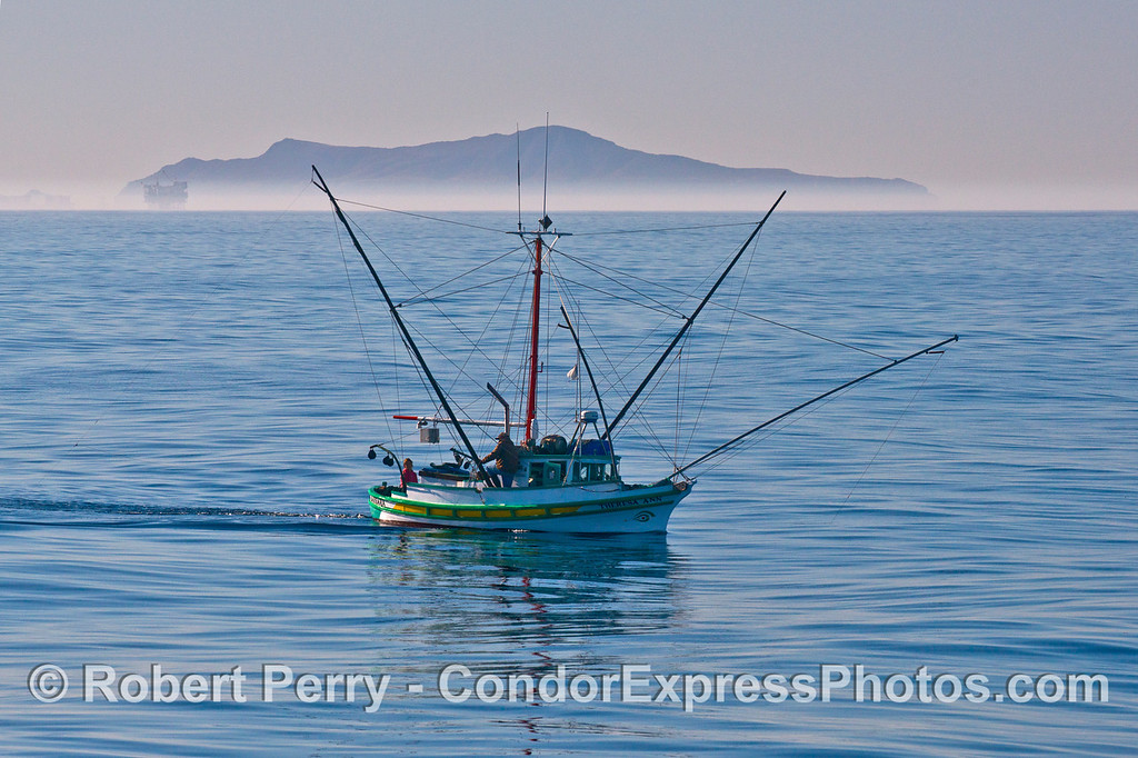 Fishing vessel Theresa Ann with Anacapa Island in back.
