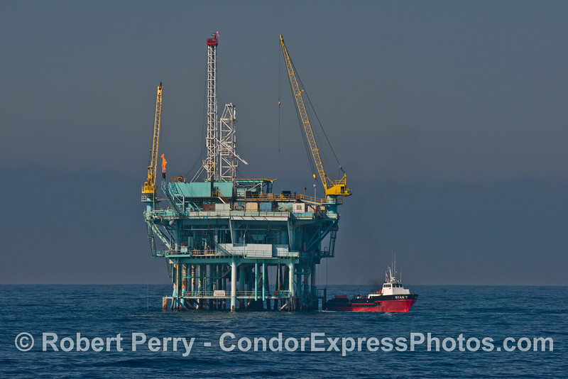 Offshore oil Platform A and vessel Ryan T.