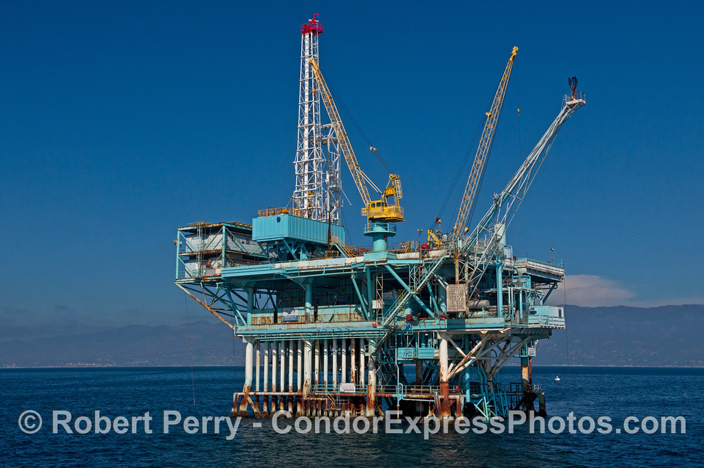 Oil platform A in the Santa Barbara Channel.