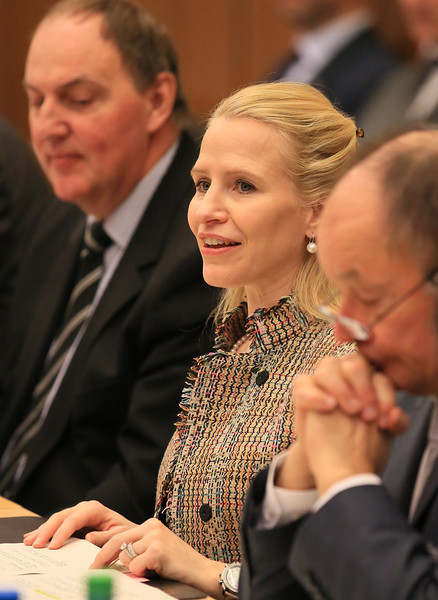 From left: Mr Kristin F  Árnason, Secretary-General, EFTA; Ms Aurelia Frick, Minister of Foreign Affairs, Liechtenstein (Chair); and Mr Norbert Frick, Ambassador, Mission of Liechtenstein to EFTA and WTO.