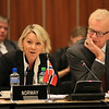 Ms Monica Mæland, Minister of Trade and Industry, Norway; and Mr Harald Neple, Ambassador, Permanent Mission of Norway, Geneva.