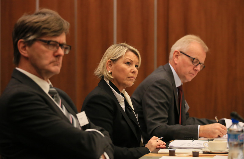 From left: Mr Jan Farberg, Director-General, Ministry of Foreign Affairs, Norway; Ms Monica Mæland, Minister of Trade and Industry, Norway; and Mr Harald Neple, Ambassador, Permanent Mission of Norway, Geneva.