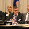 From left: Martin Eyjólfsson, Ambassador, Permanent Permanent Mission of Iceland to EFTA and WTO; Mr Gunnar Bragi Sveinsson, Minister for Foreign Affairs and External Trade, Iceland; and Ms Bergdis Ellertsdottir, Ambassador, Ministry of Foreign Affairs, Iceland.