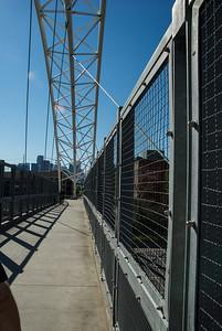 The Highland Bridge, pedestrian bridge is the third bridge from 16th Street Mall to LoHi