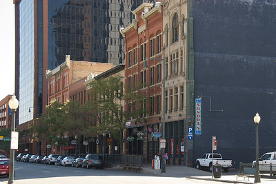 19th and 20th century streetscape blends.