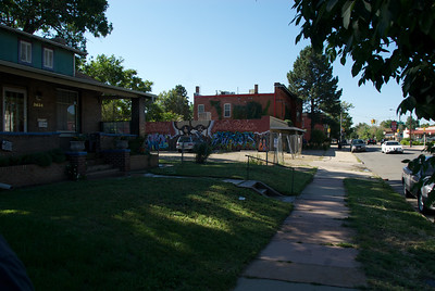 Tejon Street on the north side of Highlands, Denver, Colorado