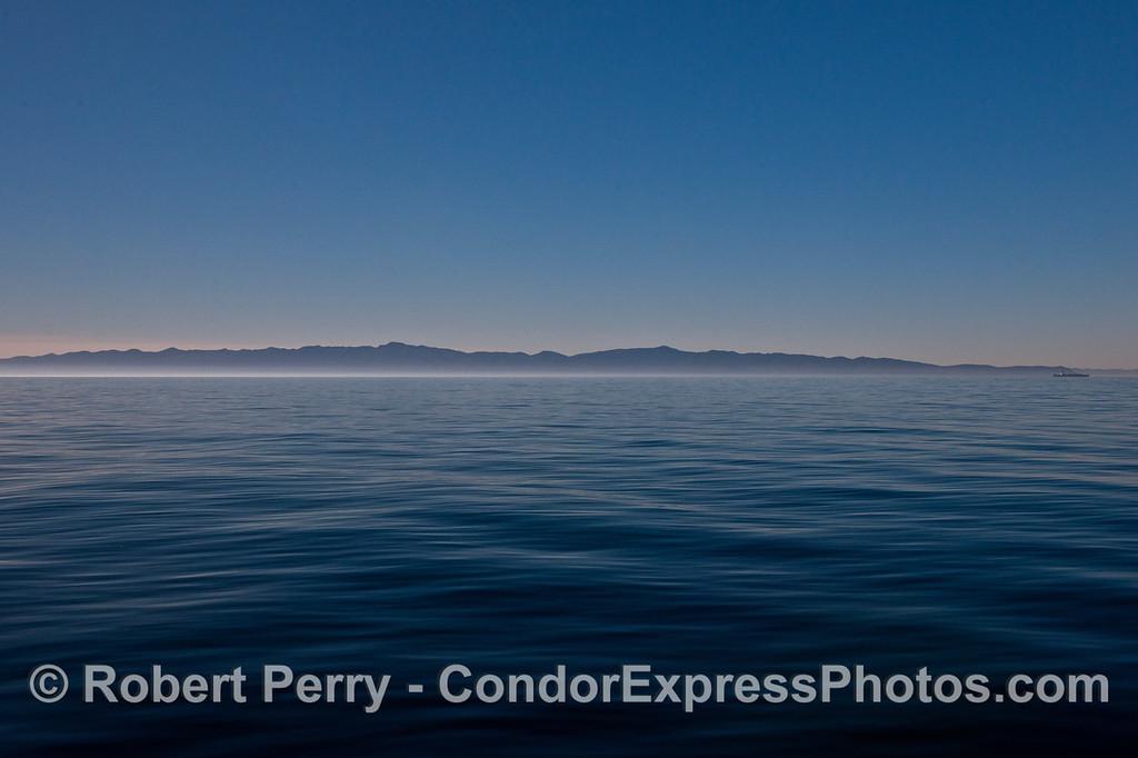 Santa Cruz Island panorama glassy ocean 2013 12-14 SB Channel -a- 004