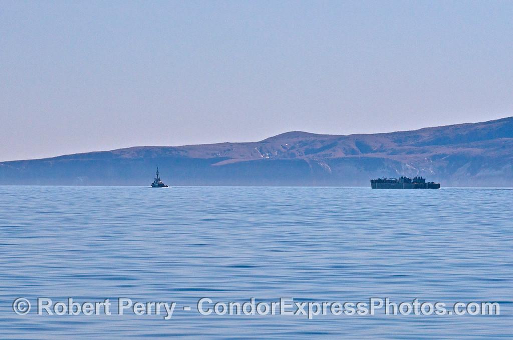 Barge in tow Santa Cruz Island 2013 12-27 SB Channel-005