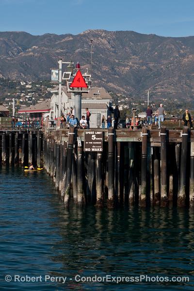 King Tides:  low tide - Stern's Wharf, Santa Barbara.
