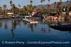 King Tides:  high tide - launch ramp and rocks Santa Barbara Harbor.