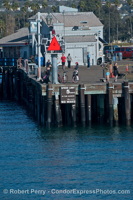 King Tides:  high tide - Stern's Wharf, Santa Barbara.