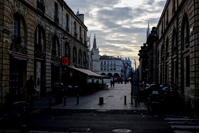 Early morning on Bordeaux streets near the cathedral