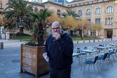 Yummy treats in a plaza of San Sebastian