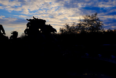 Sunrise in the Place de Quinconces in Bordeaux