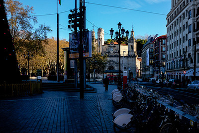 Arriaga Plaza on the edge of the old town in Bilbao.