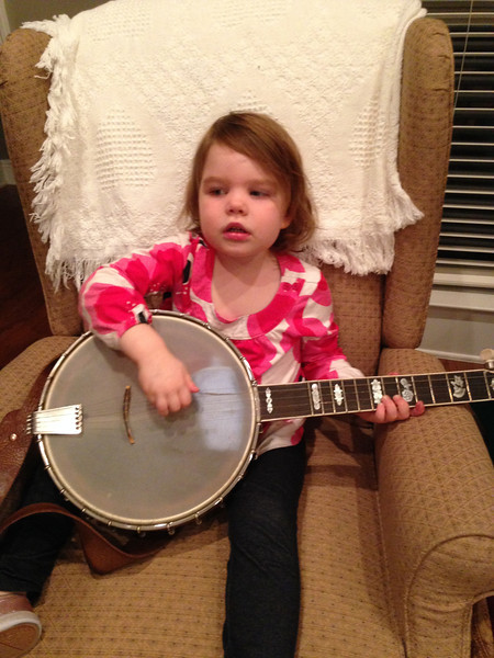Ellen got to play Uncle Bill's banjo